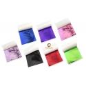 35 Feuilles métal colorées assorties