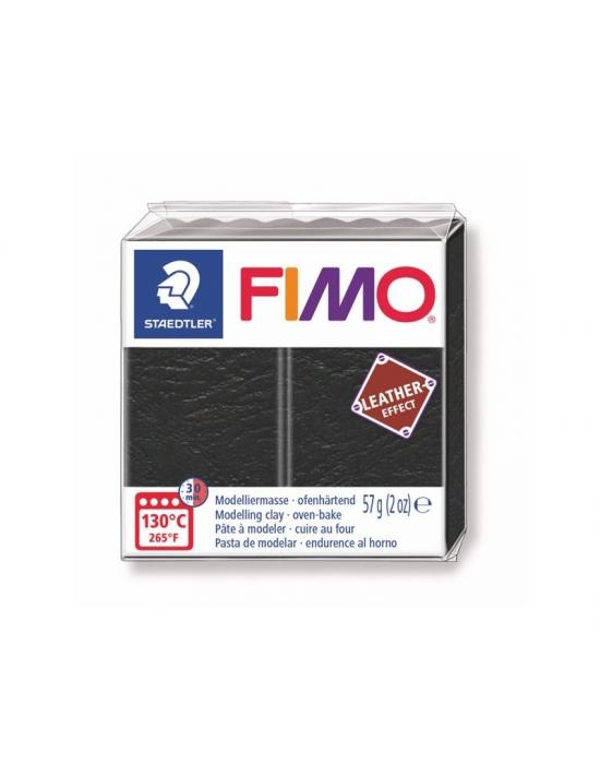 FIMO Cuir 57 g Noir N° 909