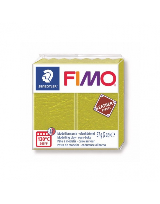 FIMO Cuir 57 g Olive N° 519