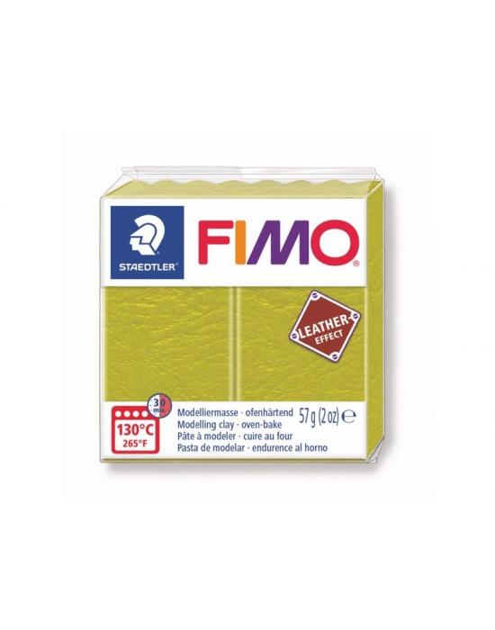 FIMO Cuir 57 g Olive N° 519