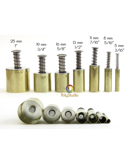 "8 Round Kemper Cutters 3/16"" to 1/1"""