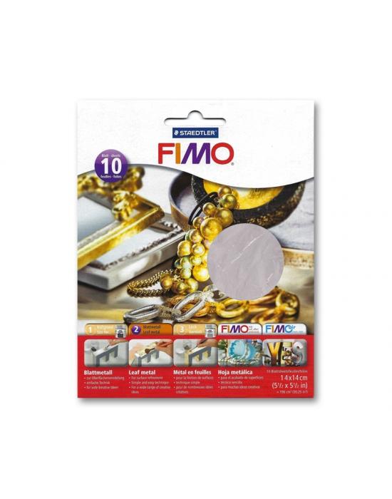 10 Feuilles métal Argent