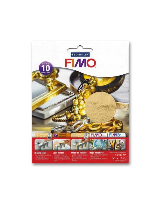 10 Feuilles métal Or