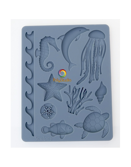 Sculpey Silicon bakeable mold Flowers and leaves
