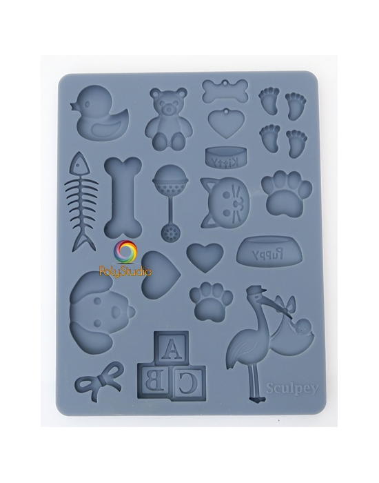 Sculpey Silicon bakeable mold Pet and Baby