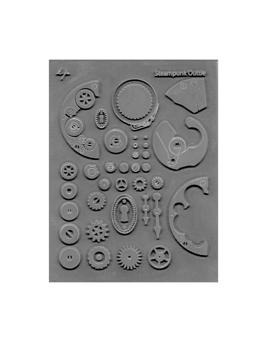 L. Pavelka Texture stamp Steampunk Outie