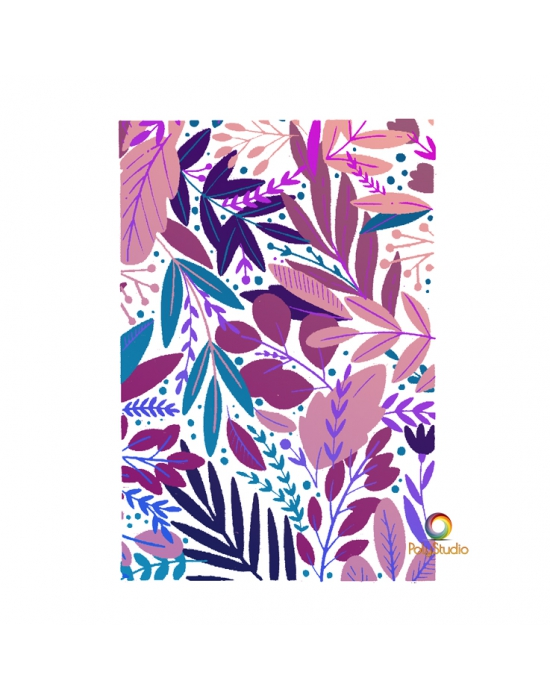 5 multi layer Paradise silk screen by Moïko