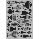 Fishes Carabelle Stencil