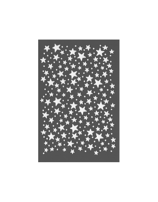 Starry Rain Stencil