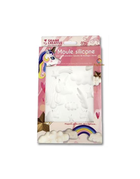 Silicon bakeable mold Unicorn