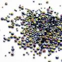 Black iridescent half micro round beads
