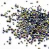 Demi perles rondes irisées noires micro