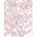 Mini strass Opale Roses