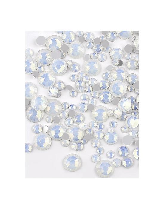 Mini strass Opale Blanc