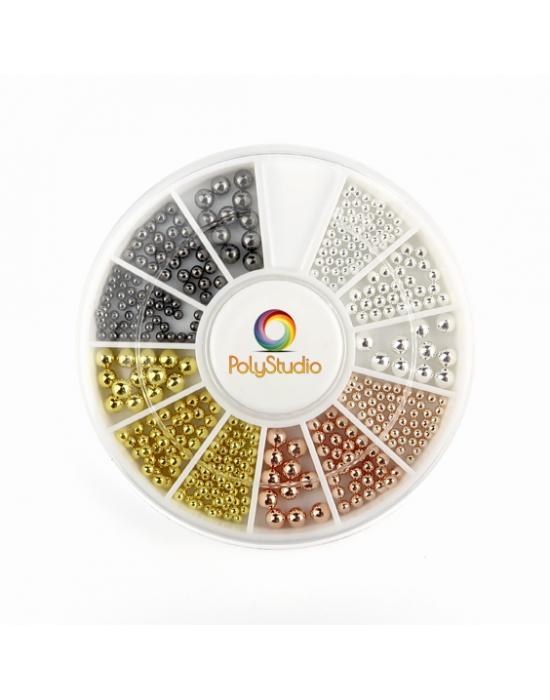 Micro perles métalliques 1,5-2-3 mm