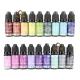 Set 18 flacons de résine UV colorée opaque