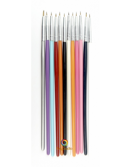 12 ultra-thin paintbrushes