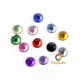Transparent multicolored mini strass