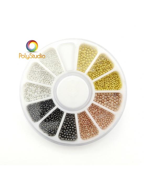 Micro perles métalliques 0,8 - 1 - 1,2 mm