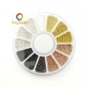 Micro metallic beads 0,8 - 1 - 1,2 mm