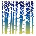 Birches Stencil