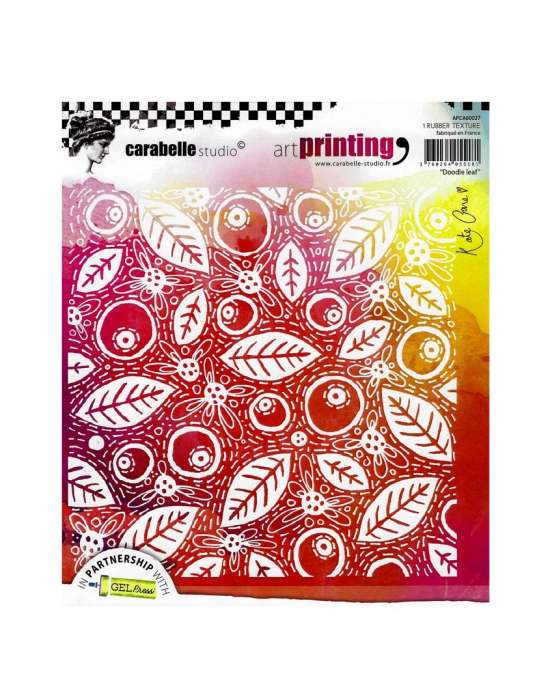 Texture stamp Doodle Leaf