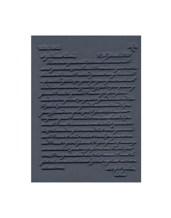 L. Pavelka Texture stamp Love Letter