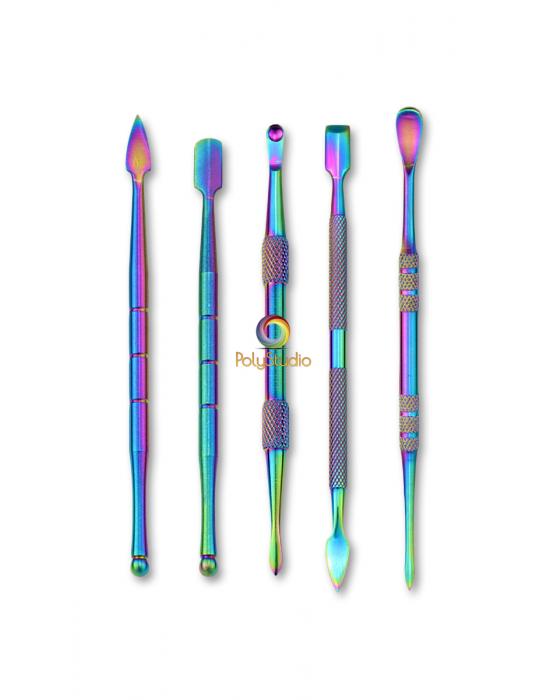 5 outils de modelage multicolores