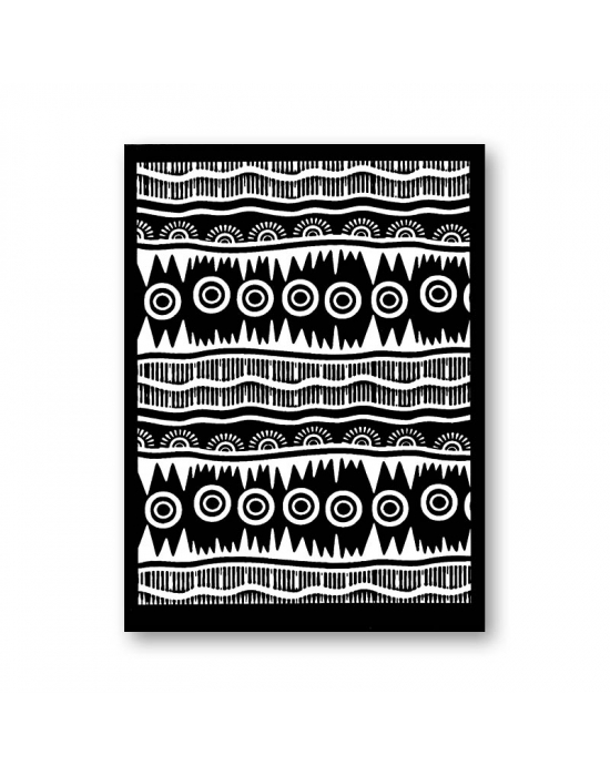 Tonja silk screen Tribal