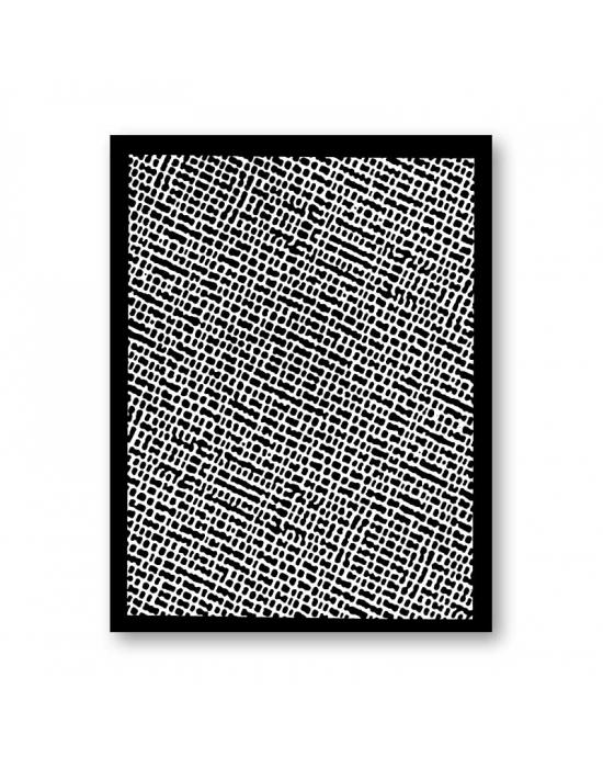 Tonja silk screen Denim Macro