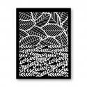 Tonja silk screen Leaves duo