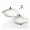 2 Gingko stainless steel cutters