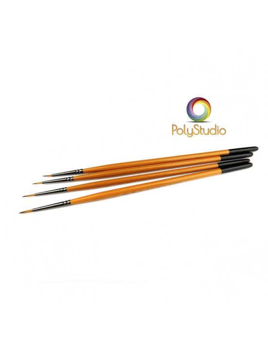 4 ultra-thin paintbrushes