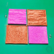 4 mini texture stamps Nr 7