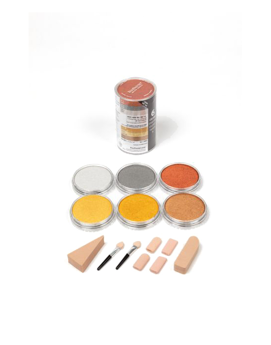Pan Pastel - 6 metallic colors set